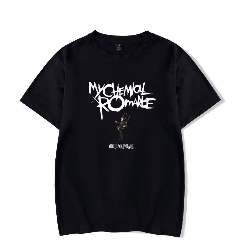 My  Romance Mens Shirts Black White 2018 New Fashio Hip Hop T Shirt Short Sleeve Cotton Casual Xxxxl Oversized T-shirt