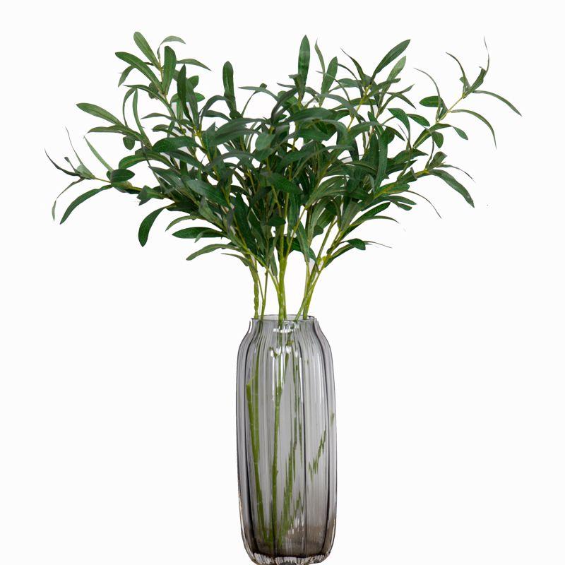 Plantas artificiais ramo de oliveira Vegetação artificial real touch planta verde Folhas de oliva Flores artificiais para Vaso Decoração de Casamento Em Casa