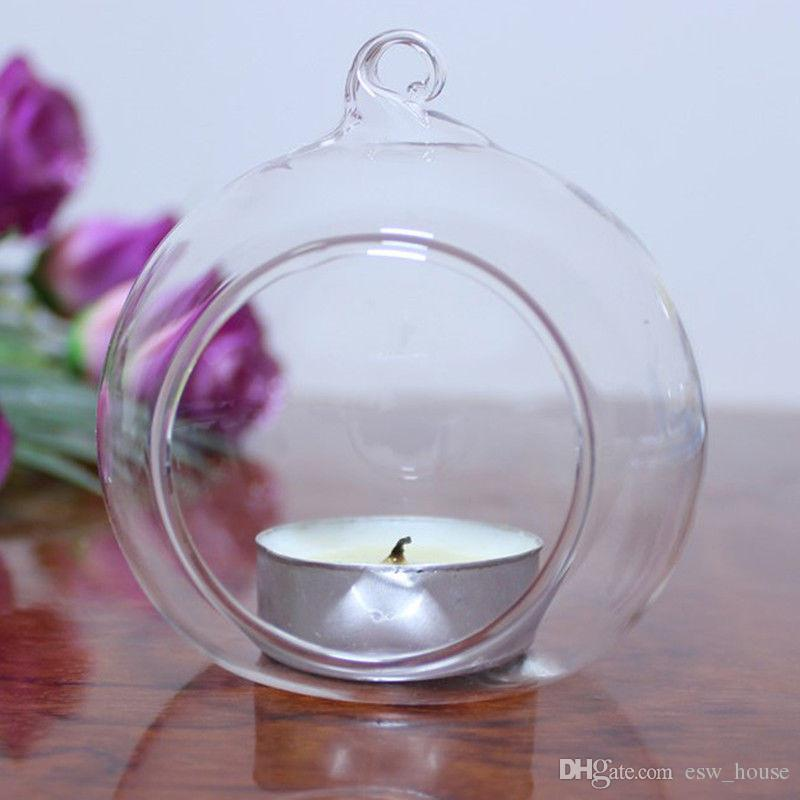 100 ملليمتر رومانسية شنقا tealight حامل زجاج غلوب تررم الزفاف شمعة حامل شمعدان إناء فندق المنزل بار الديكور