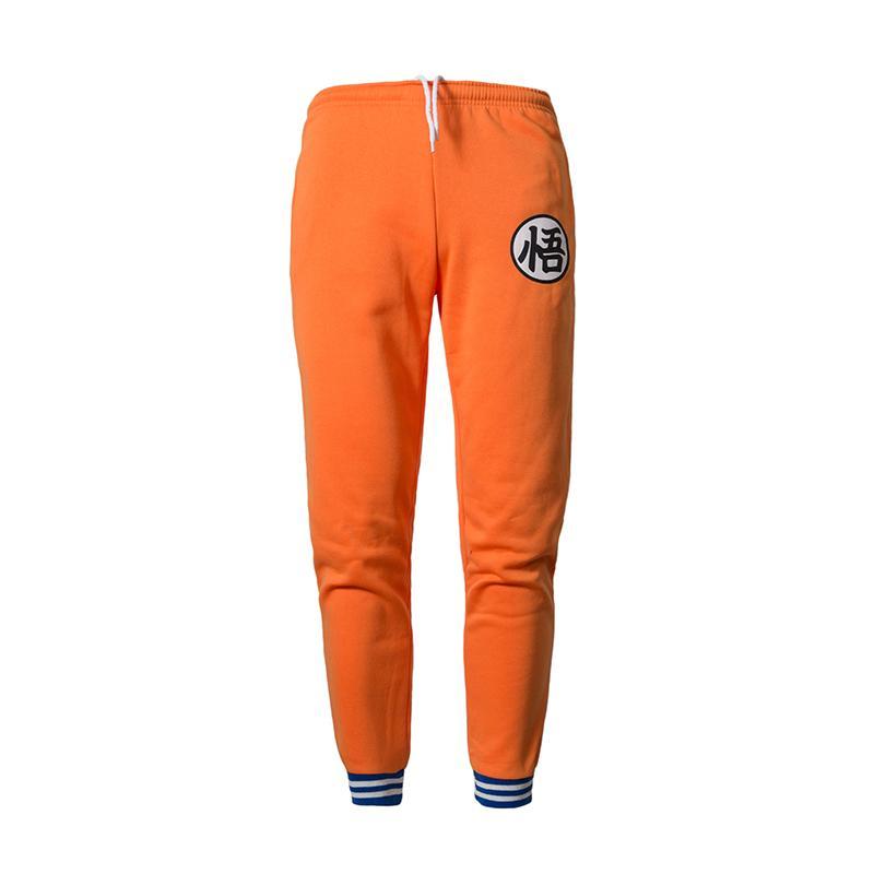 2018 Imprimir Goku pantalones para hombre del terciopelo de algodón Otoño Invierno Gris Hombres Joggers Sweatpants animado Negro Plancha envío de la gota