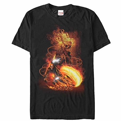 Летние футболки мужские Ghost Rider Fire Fury футболка с коротким рукавом футболка