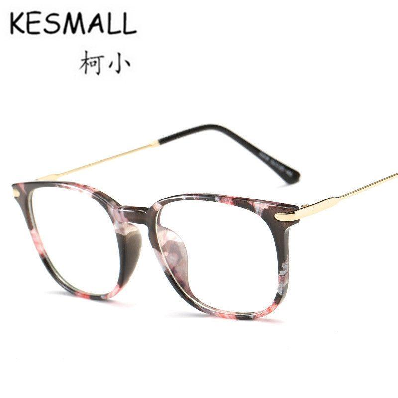 KESMALL Nuevo Verano Gafas Mujeres Hombres Moda Anti Blue Ray Gafas Lente Transparente TR90 Marco de Gafas Marcos De Lentes YL430