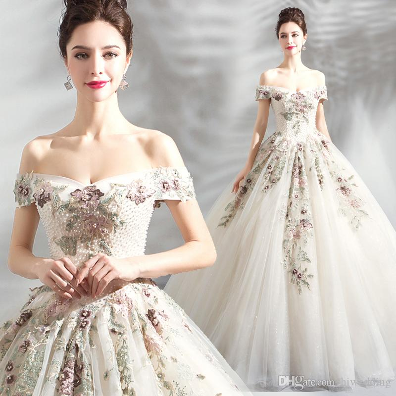 Lace Pearls Luxurious Sexy 2018 Evening Dresses Sweetheart Ball Gown Tulle Prom Dresses Sexy Pageant Formal Party Gowns