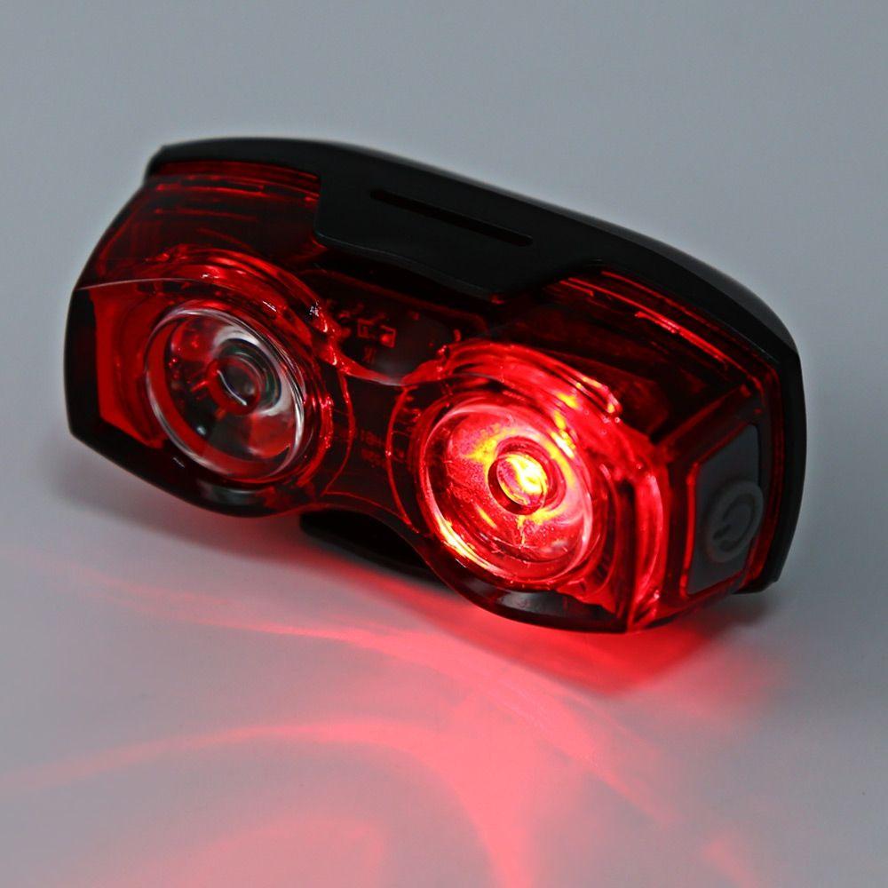 Bike Bicycle MTB LED Feu Arrière Feu Précaution Lampe 2 LEDs, plage d'éclairage plus large et plus large.