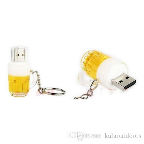 New arrives beer cup 32GB 64GB 128GB USB2.0 usb flash drive/pendrive/flash memory retail package free shipping