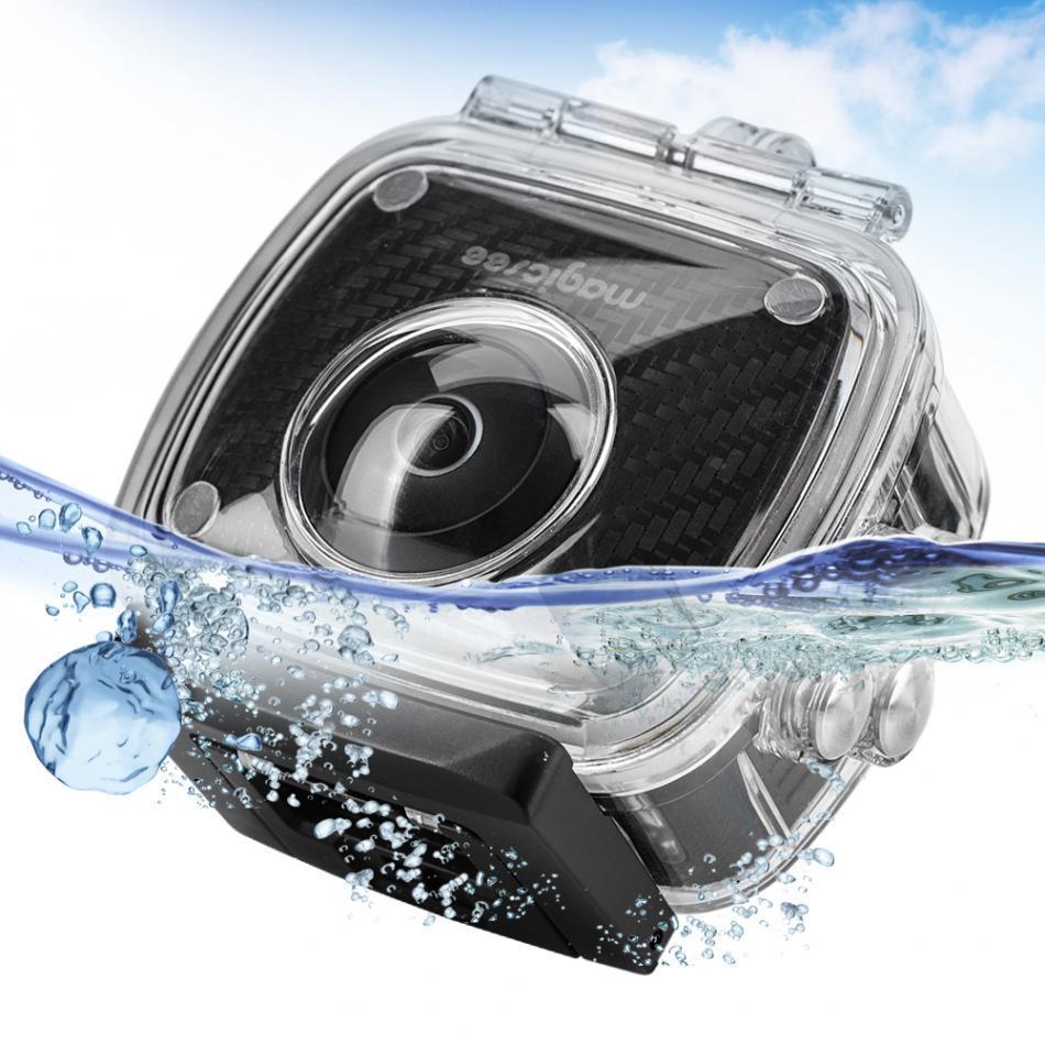 Freeshipping 8MP HD عدسة مزدوجة 360 درجة كاميرا بانورامية الرياضة عمل كاميرا الفيديو وملحقاتها حالة الكاميرا للماء