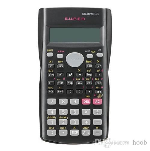 Calculatrice scientifique pour étudiants portatifs Affichage à 2 lignes Calculatrice multifonction portable 82MS-A pour l'enseignement des mathématiques