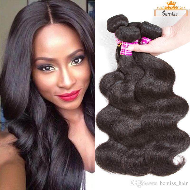 10A Wholesale Price Brazilian Virgin Hair Body Wave Human Hair Bundles Cambodian Indian Peruvian Straight Hair Extensions Drop Shipping