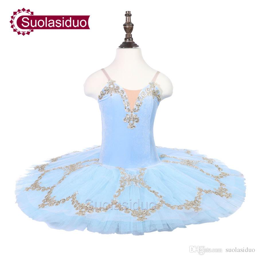 Girls Skye Blue Ballet Tutu The Sleeping Beauty Performance Stage Wear Kids Classical Ballet Dance Competition Costumes Adult Ballet Skirt