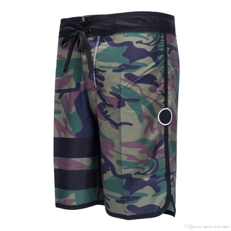 New 2018 Mens Board Shorts Surf Boardshorts Quick Dry Army Camouflage Bermudas Masculinas Beach Swim Short Pants Elastic