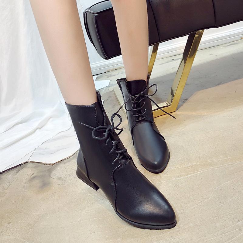 Plattform Heels Frauen Stiefel aus weichem Leder dicken Absatz Plattform Stiefel Winter Herbst Stiefel warme Fell große Größe