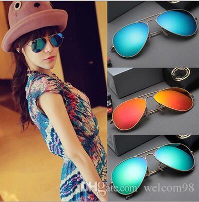 10pcs / lot Mix Colors Accessori moda UV Protect Sun Occhiali da sole per gli occhi Regalo AL025 *
