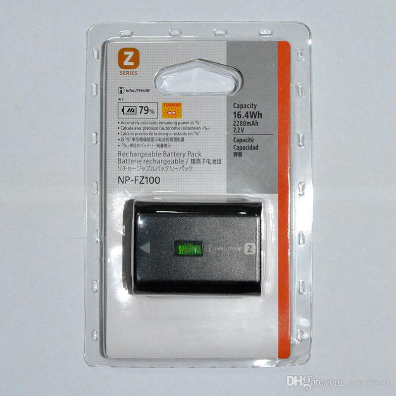 아주 새로운 10PCS / 많은 2280mAh NPFZ100 NP FZ100 소니 ILCE-9 A9 ILCE-7RM3 a7RM3 BC-QZ1에 대한 NPFZ100 카메라 배터리