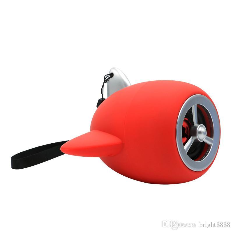 Sevimli karikatür küçük uçak modeli pervane kablosuz Bluetooth hoparlör taşınabilir mini subwoofer ses yaratıcı