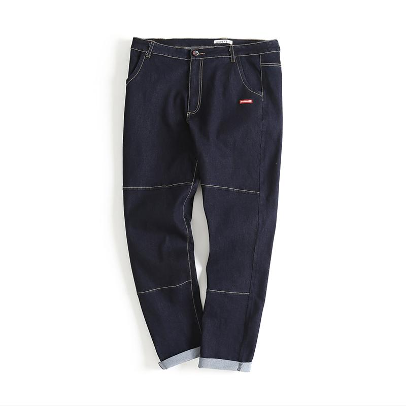 Men's New Style Fashion Autumn Blue Jeans Tide Brand Elastic Loose Casual Male Comfortable Handsome Trousers Large Size XL-6XL