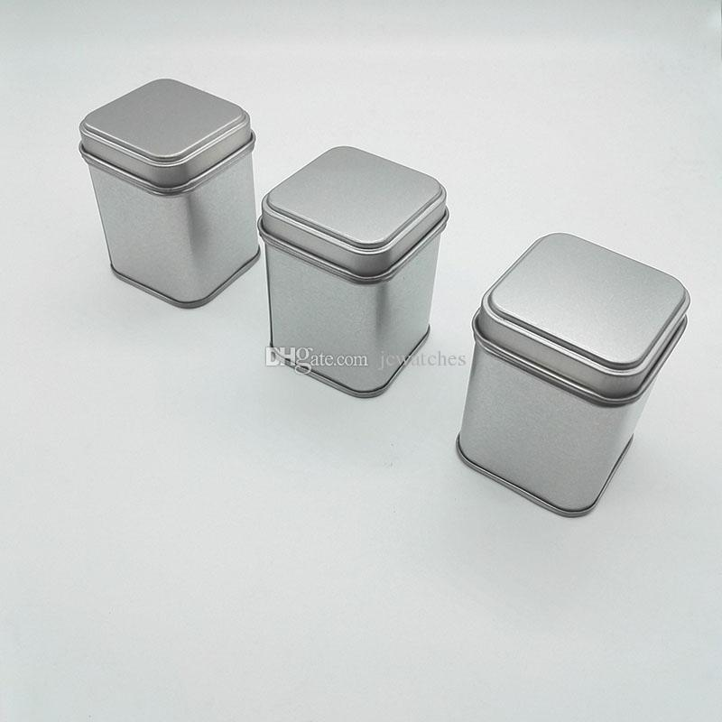 50g Tin Metal Cans Storage Bottles Jars Metal Cans Tea Caddy Mini Candy small sealed canisters portable travel Tea box