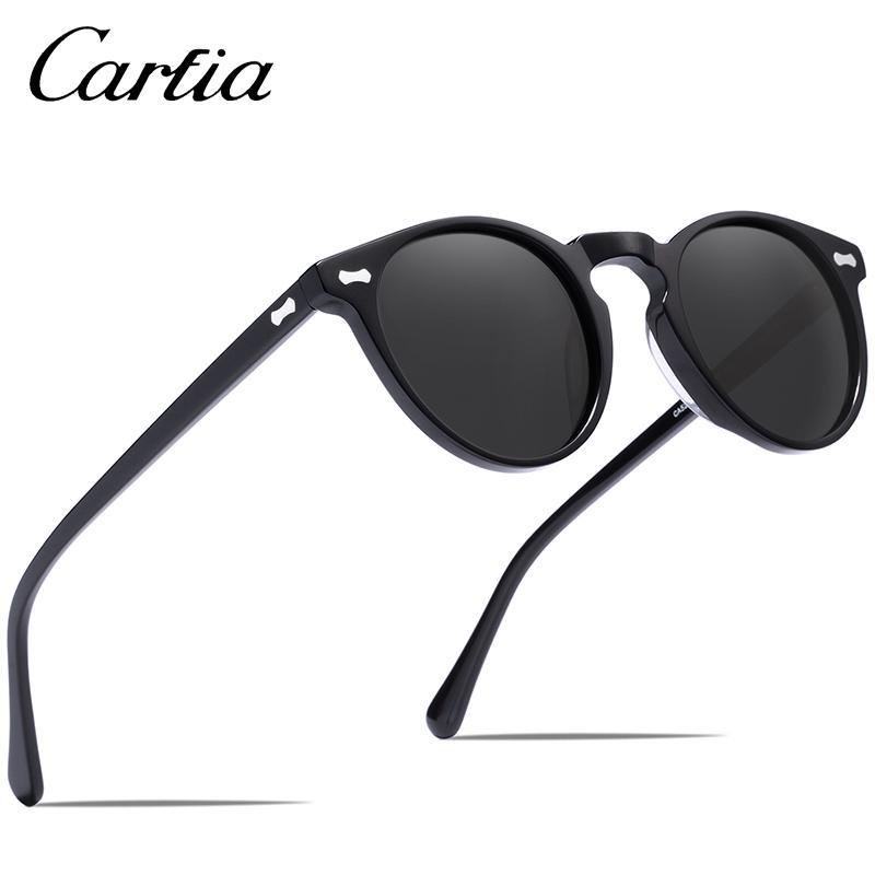 Venta al por mayor Diseñador de la marca gafas de sol polarizadas Gregory Peck Vintage Retro gafas de sol mujeres hombres gafas de sol redondas 100% UV400 5288