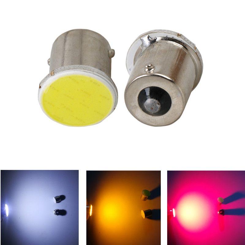 1156 BA15S COB светодиодные лампы P21W R5w сигнала поворота резервного копирования огни прицеп грузовик интерьер обратный хвост лампы 12 В 3 Вт Белый Красный янтарь