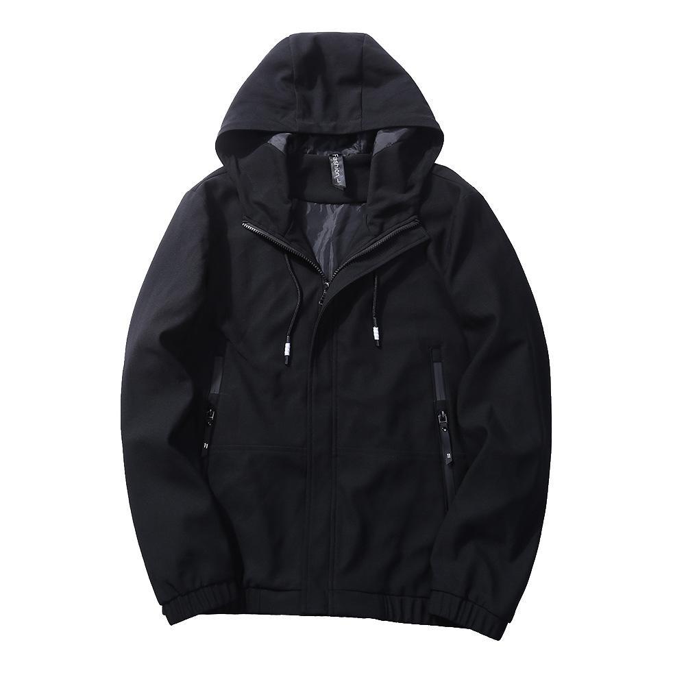 Venta al por mayor 2018 otoño e invierno chaqueta de los hombres con capucha hombres una chaqueta de agua sólida