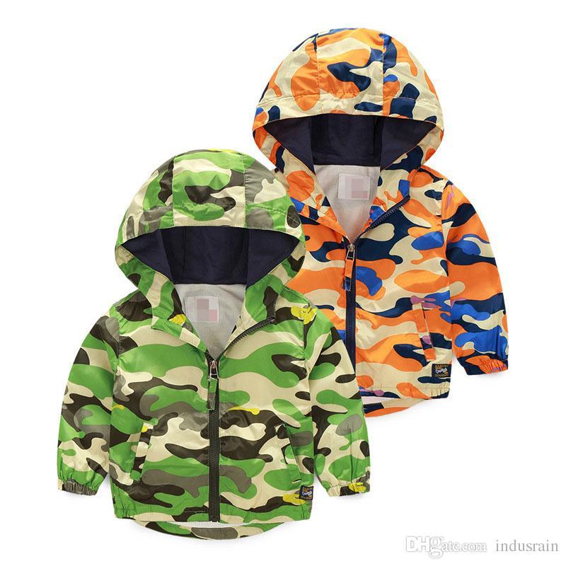 Hot Sale spring autumn children Camouflage hoodies Boys girls cotton coat Fashion Long Sleeve Print baby clothes zipper Jacket