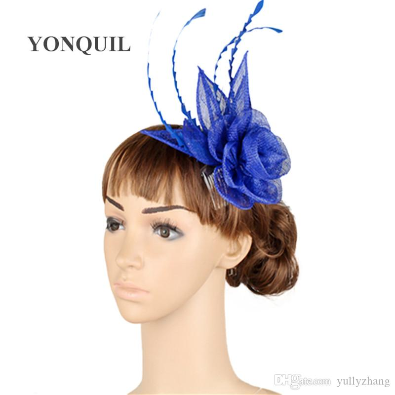 17 colors generous sinamay material fascinator headwear event hair accessories occasion hat suit for all season MYQ008