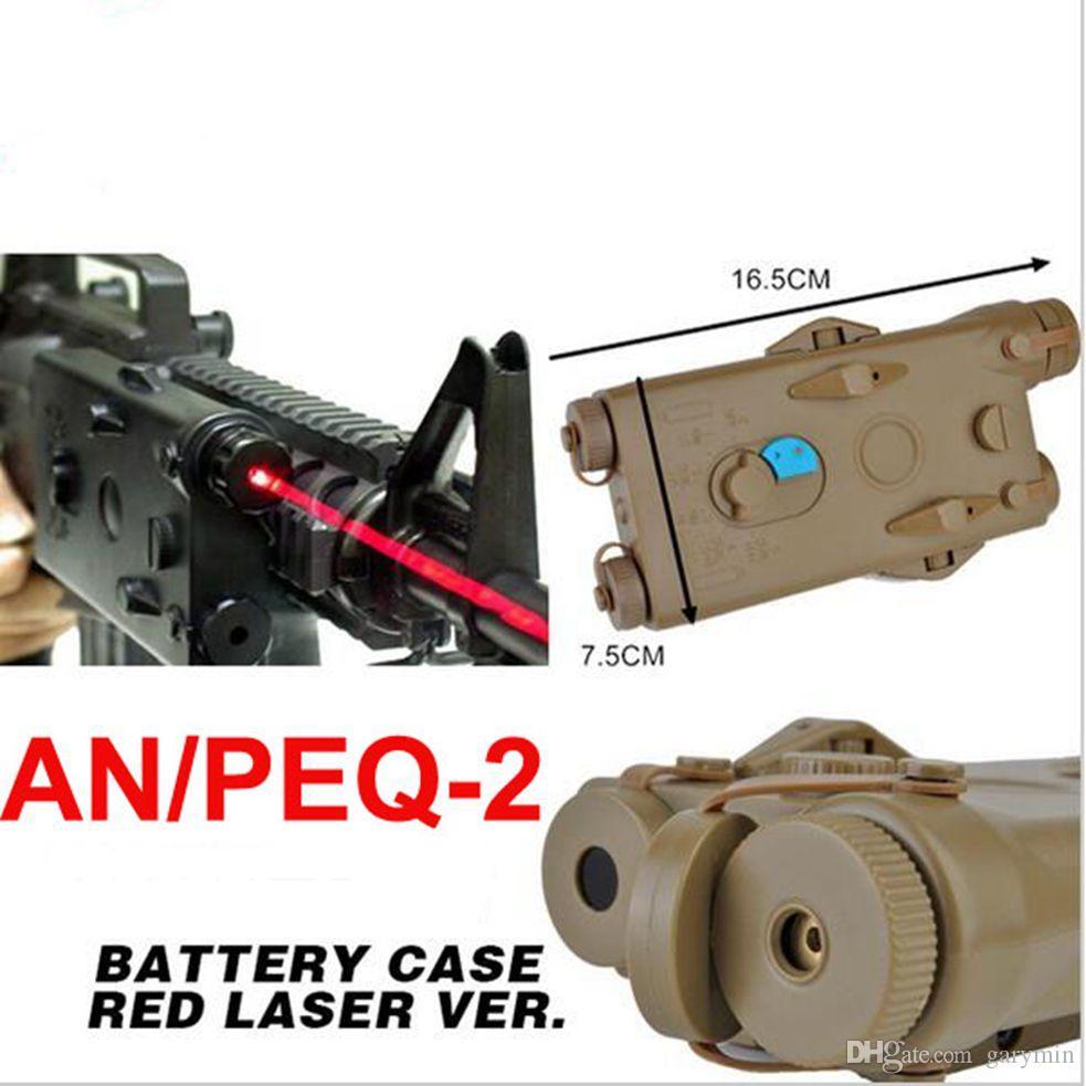 التكتيكية an peq peq-2 حالة البطارية الأحمر الليزر لا وظيفة peq2 مربع في الهواء الطلق والعتاد