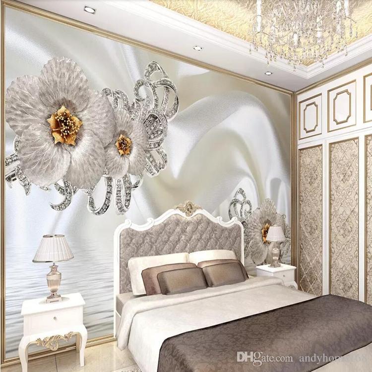 Arkadi 5D film and television mural TV background wallpaper living room modern minimalist 3D rose silk