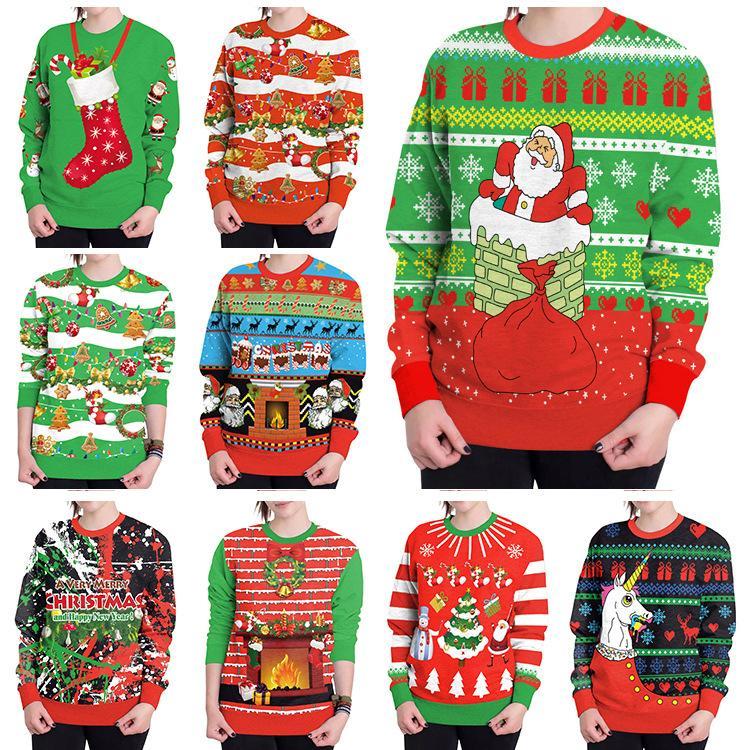Christmas Hoodies.2019 Christmas Hoodies Christmas Tree Santa Clus Socks Printed Long Sleeved Blouse Sweatshirts T Shirt Casual Pullovers Men S Clothing Gga1258 From