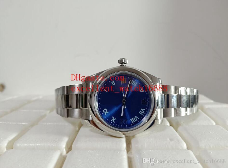 Relojes de moda de la venta caliente 39 mm 177200 Platinum Blue Dial Asia 2813 Relojes de acero inoxidable mecánico automático de los hombres