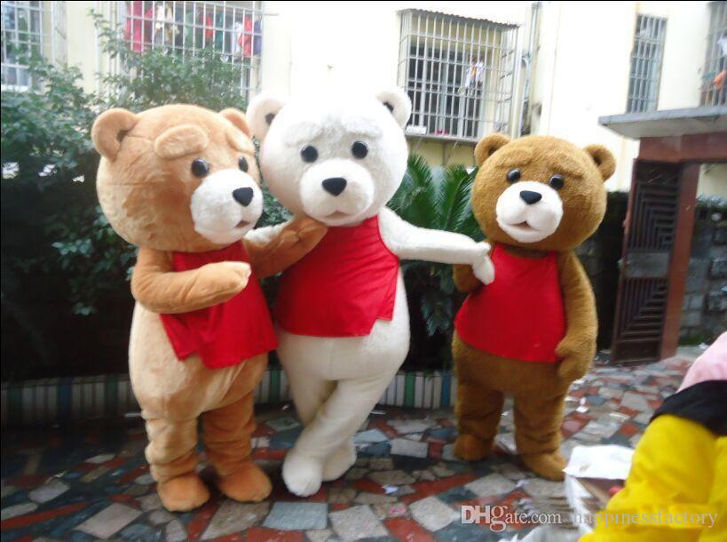 2018 Factory sale hot Teddy Bear of TED Adult Mascot Costume for Hallowmas /Chrstmas party