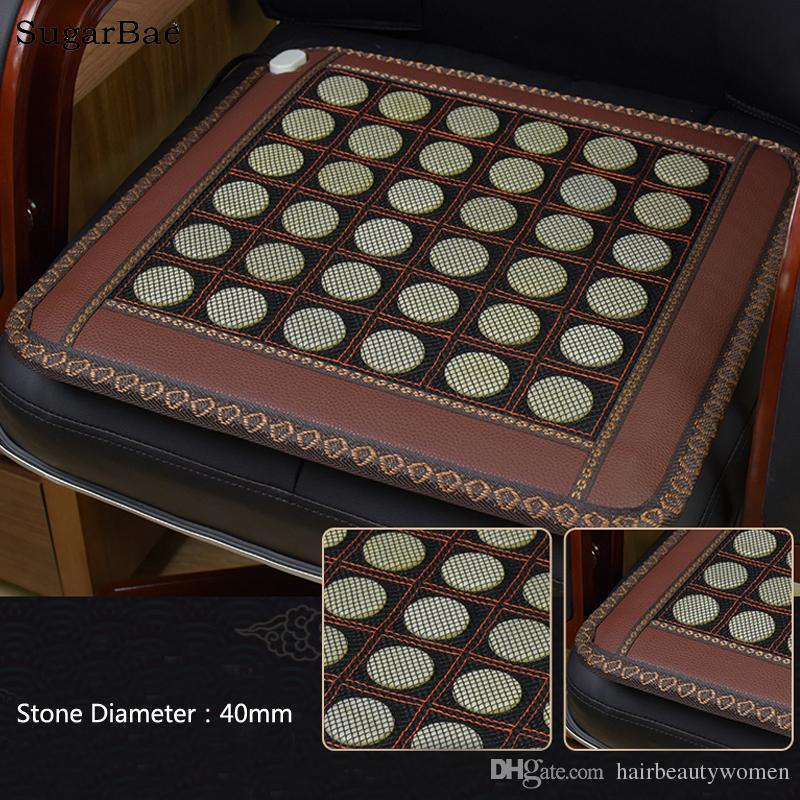 45x45CM Health Care Pad Heating Jade Cushion Natural Tourmaline Mat Physical Therapy Mat Heated Jade Mattress For Sale