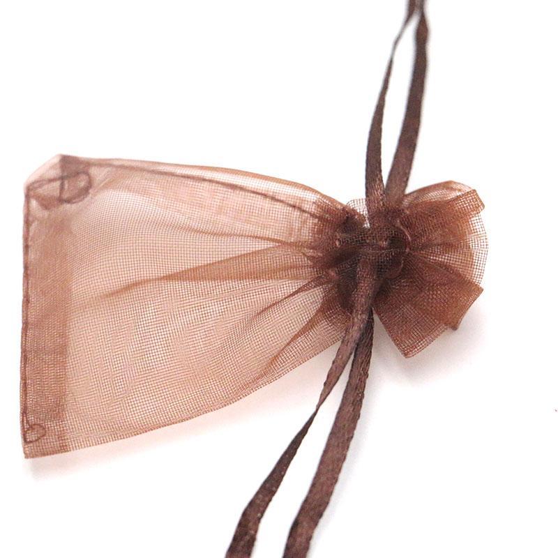 200PCS الصغيرة 5 * 7cm وأنماط اورجانزا مجوهرات حقائب حفل زفاف عيد الميلاد الفوال الرباط كيس الهدايا والمجوهرات التغليف هدية الحقيبة