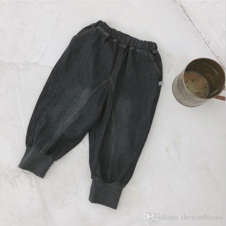 2018 nova chegada meninos denim harem pants moda meninos calças de brim 1-6t VG654