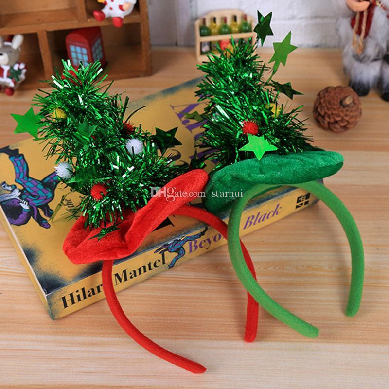 크리스마스 장식 머리띠 파티 머리 장식 레드햇 비 짠 머리띠 휴일 파티 생일 파티 용품 선물 포장 WX9-1075