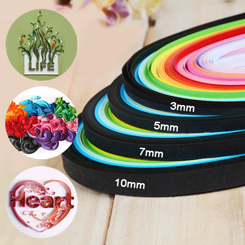 260 Stripes//lot 3mm 5mm 7mm 10mm Paper Quilling Paper DIY Decoration Pressure Relief Gift Origami Paper