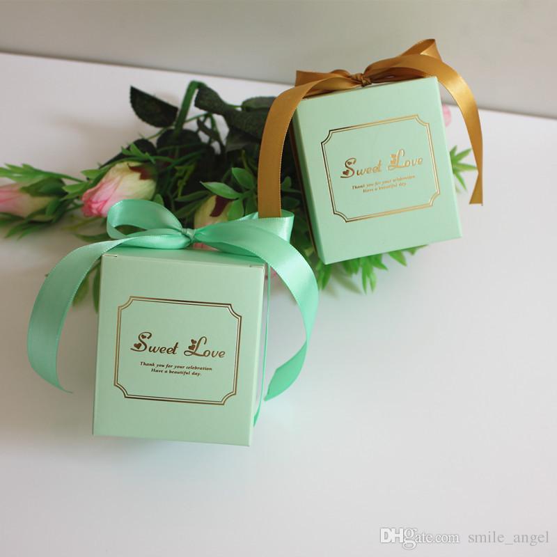 2019 Novo Casamento Favorece Caixas Originalidade Caixa De Doces Com Fita de Papel Criativo Presentes Caixas de Decoração Do Partido Do Chuveiro Do Bebê Quente