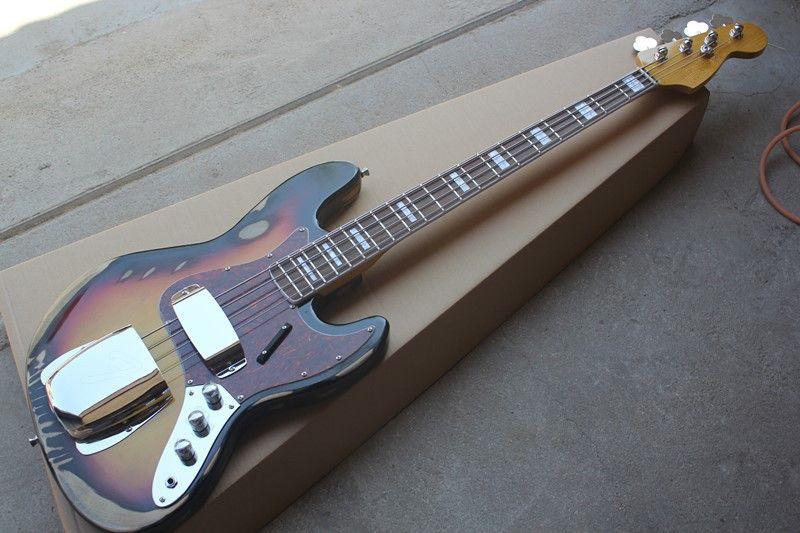 Kırmızı İnci Pickguard ile eski vücut 4 Strings Elektrik Bas Gitar, Gülağacı klavye, Krom Donanım, teklif özelleştirilmiş