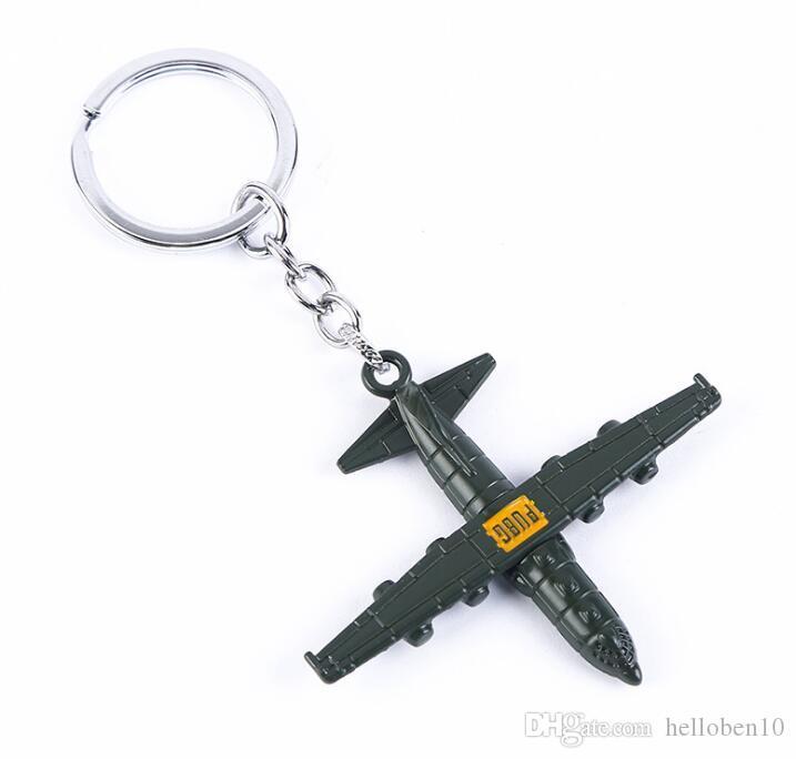 Playerunknown's Battlegrounds Keychain PUBG Aircraft Plane Airplane Pendant Metal Key Ring Car Bag Key Chain Chaveiro Jewelry