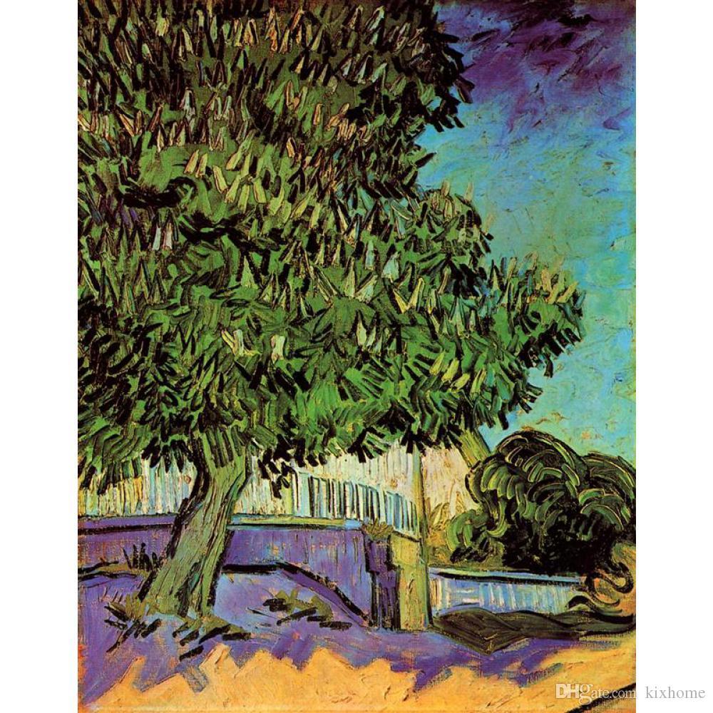 El boyalı Vincent Van Gogh yağlıboyalar tuval Kestane Ağacı Çiçeği modern sanat Peyzaj duvar dekor