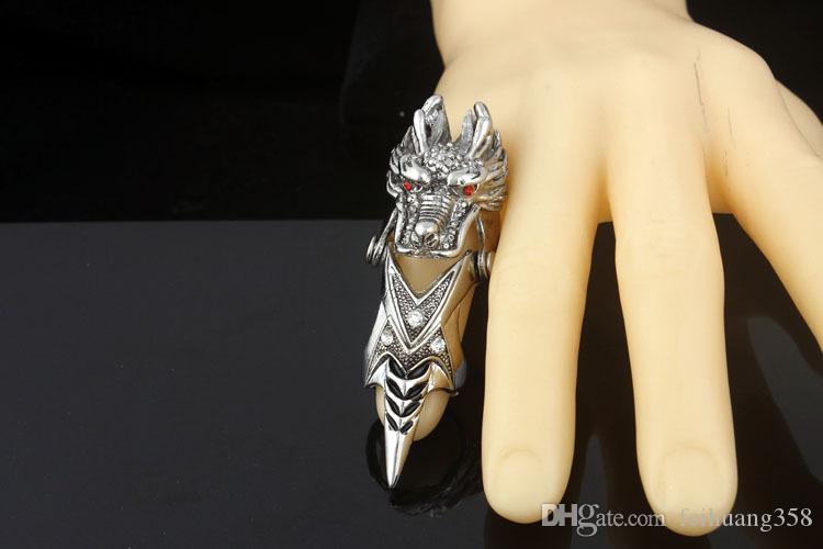 Yeni Tibet Gümüş Musluk Hollow Parmak Ortak Yüzük / Yüzük