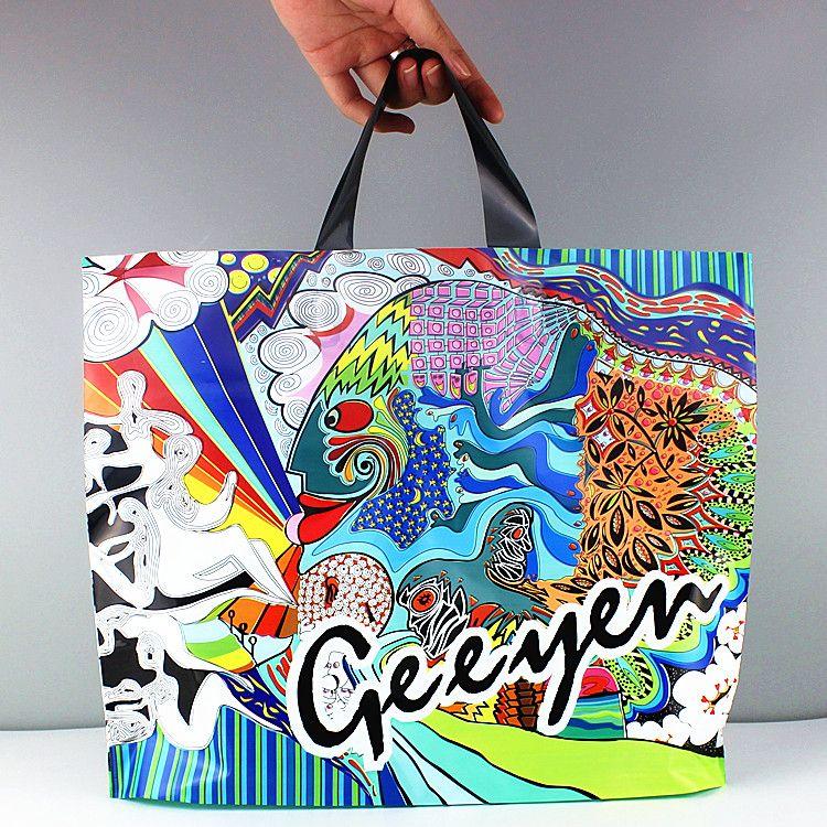 50 pçs / lote Full color Phoenix saco de Embalagem De Plástico para Presentes de Vestuário sacos com flores em tamanho grande impressão disponível para o costume