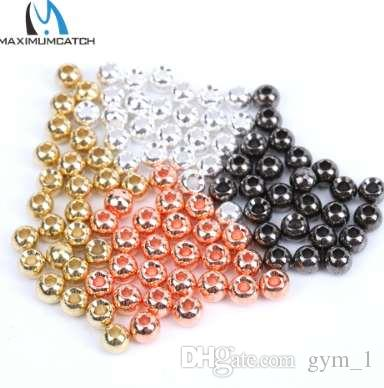Maximumcatch 25pc 2.0-4.6mm Fly Tying Tungsten Beads 4 색 플라이 타이 낚시 용품 낚시 액세서리