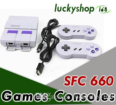 Sfc tv classic Tv Mini Game Consoles 2020 Newest Entertainment System For 660 SFC NES SNES Games Console MQ20 free DHL