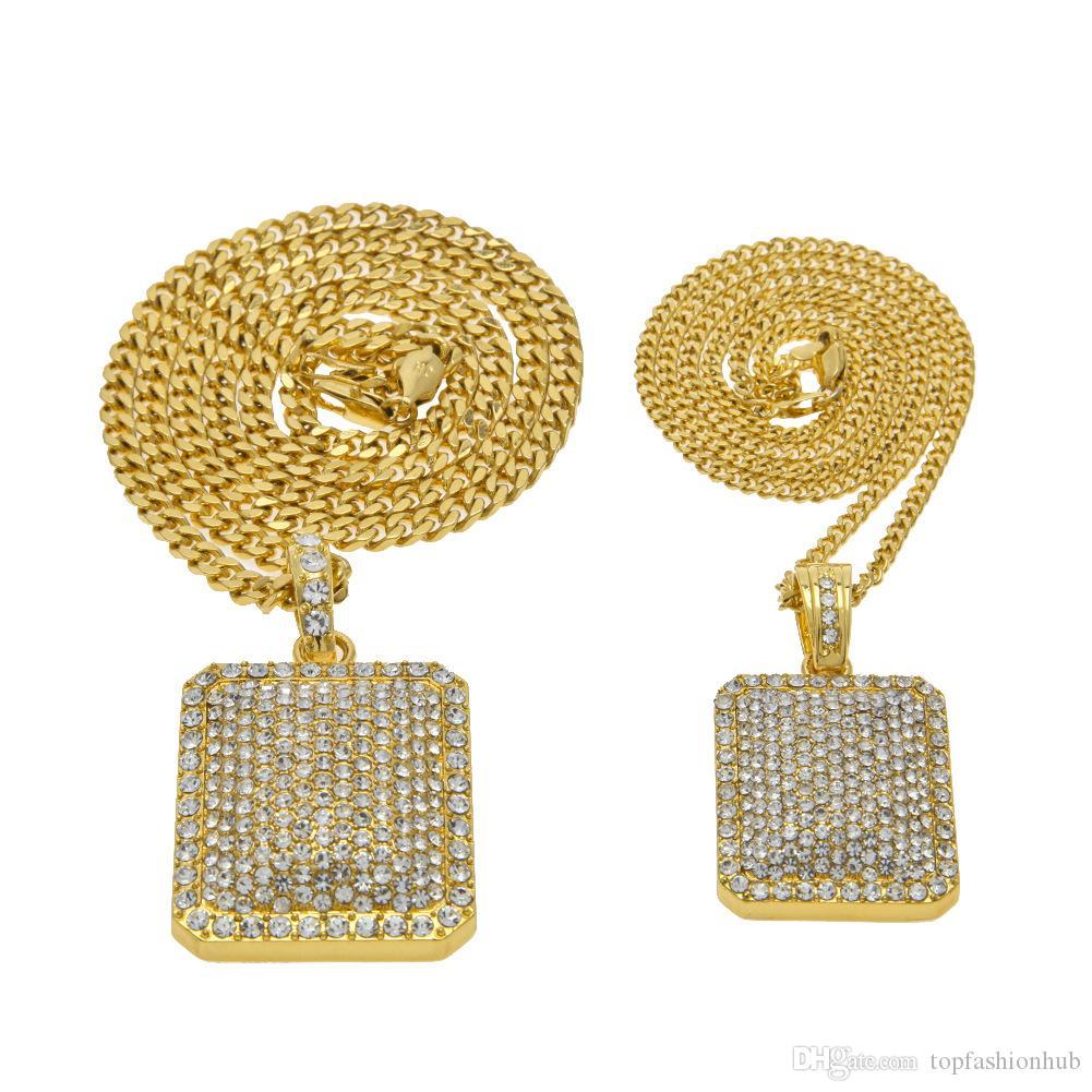 Erkek hip-hop Kolye acımasız mal blingbling elmas matkap kolye ağır sanayi tam matkap askeri Kolye