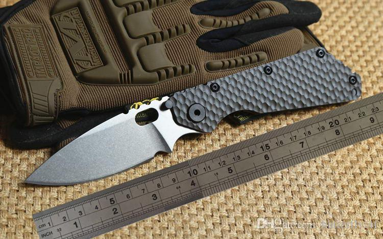 ST folding knives SMF D2 knife Folder Titanium handle D2 blade Copper washers Tactical Hunting Survival Knives EDC free shipping