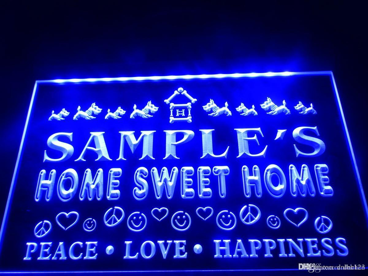 Dz061b Name Personalized Custom Home Sweet Home Scottie Peace Love Led Neon Beer Sign Outdoor Led Strip Lighting Battery Led Strip From Dnchen 8 85