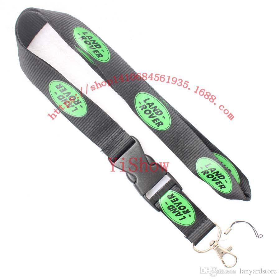 The charisma of a car LAND ROVER Lanyard Keychain Key Chain ID Badge cell phone holder Neck Strap black.