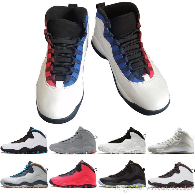 New Arrivals 10 10s Men Basketball Shoes Cement Tinker Black White Chicago  Powder Blue Red 10s Mens Sneakers Trainers Sports Shoes US 7 13 Youth ...