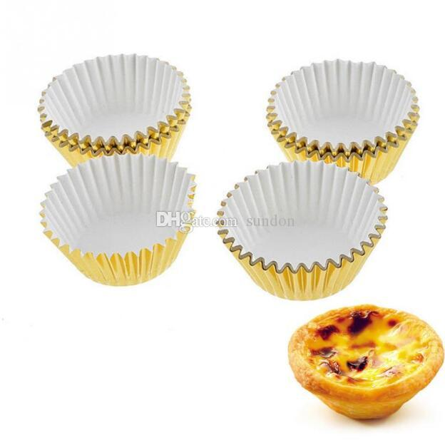 Free shipping 1000pcs/lot HOT mix foil cupcake cases papers muffin liners cake cups baking mould