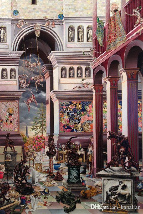 Free Shipping Raqib Shaw Painting High Quality Art Posters Prints Home Decor Wall Paper 16 24 36 47 inches